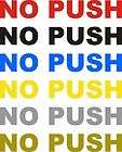 NO PUSH Aircraft 4 decal sticker cessna piper airplane jet no push
