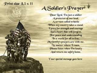 SOLDIERS PRAYER Poem Print   U.S. ARMY