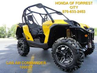 NEW 2012 CAN AM COMMANDER 1000 XT SIDE BY SIDE UTV 4X4 LIKE 800 RZR X