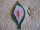 Easter Lily Badge & Patch Set Tri/Color Ireland AOH