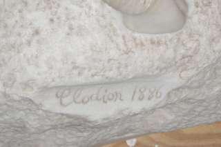 Antique Bacchanalian Marble Sculpture After Clodion