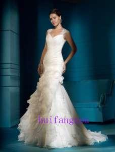 New Ivory Mermaid Style Bridal Wedding Prom Dress Gown
