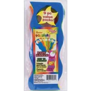 : Foam Door Hangers 9/Pkg Wavy Assorted Colors: Arts, Crafts & Sewing