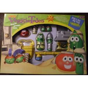 Veggie Tales Josh & the Big Wall Play Set Toys & Games