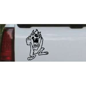 Taz bird Cartoons Car Window Wall Laptop Decal Sticker    Black 20in X