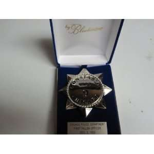 Chicago Police Constable Badge Star Pie Plate Blackinton