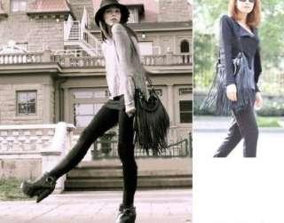 New Punk Tassel Fringe Womens Fashion Leather handbag Shoulder Bag HOT