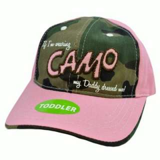 Daddy Dressed Me Wearing Camo Pink Toddler Youth Kids Baby Girl Velcro
