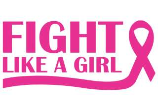 Fight Like A Girl Pink Decal Sticker Car Home Window