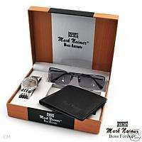 Mark Naimer 3 Gift Set Quartz Watch, Sunglasses/Wallet