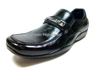 Mens Black D ALDO Buckle Dress Casual Driving Shoes NIB