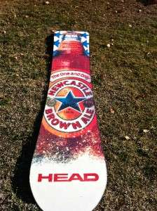 Newcastle Brown Ale Beer Logo REAL HEAD Snowboard Limited Edition NEW