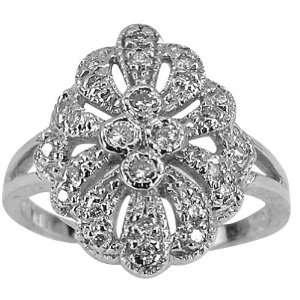 Diamond Antique Flower Ring   7 DaCarli Jewelry