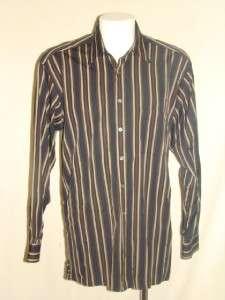 Alfred Dunhill Multi Stripe 100% Cotton Shirt Size XL