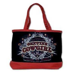 Shoulder Bag Purse (2 Sided) Red Genuine Cowgirl Love To Ride