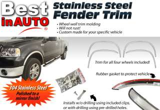 98 02 FORD CROWN VICTORIA 2.25 Fender Trim 304 Stainless Wheel Well