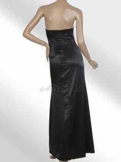 Strapless Black Red Ruffles Alisa Pan Elegant Long Prom Gowns 09345