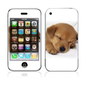 Apple iPhone 3G Decal Vinyl Sticker Skin   Animal Sleeping Puppy