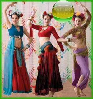 Womens Belly Dance Costume Sewing Pattern 2941 Simplicity