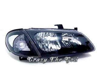 Almera N16 2000 2002 Crystal Headlight Black DEPO for NISSAN