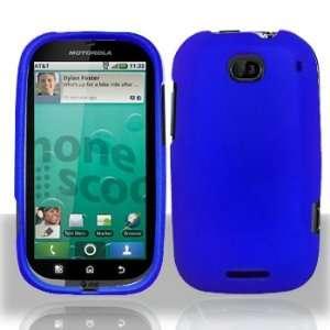 Motorola MB520 Bravo Rubber Dr. Blue Case Cover Protector