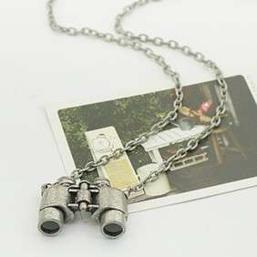 New Design Hot Retro Style Amazing Telescope Pendant Necklace Silver