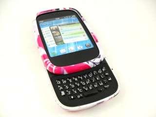 FOR HP VEER 4G PHONE PINK FLOWER WHITE HARD COVER CASE
