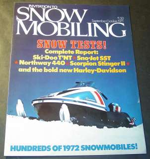 1972 AMF HARLEY DAVIDSON SNOWMOBILE BROCHURE 6 PG AD