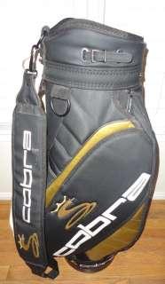 Staff Golf Bag Gold Black + Valuable bag & Cover Socks & Towel