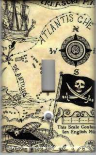 PIRATE TREASURE MAP LIGHT SWITCH PLATE COVER