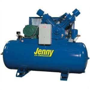 Jenny Two Stage Electric Stationary Tank Mounted Air Compressors: Pump