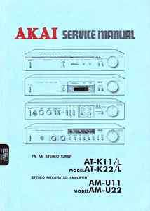 AKAI ORIGINAL SERVICE MANUAL AT K11 K22 AM U11 U22