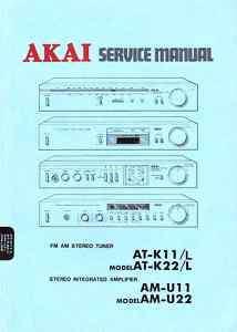 AKAI ORIGINAL SERVICE MANUAL AT K11 K22 AM U11 U22 |