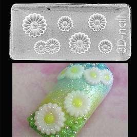 65 Daisy 3D Arcylic Nail Art Mold DIY Decoration