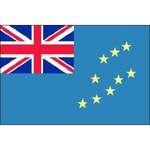 3 x 5 Feet Tuvalu Poly   indoor International Flag Made in