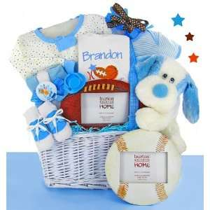 Personalized All Star Baby Boy Gift Basket