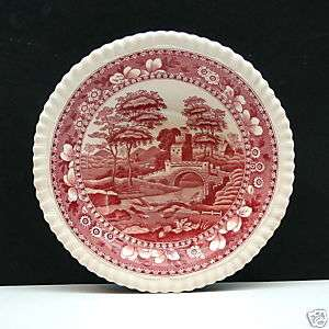 COPELAND SPODES TOWER RED & WHITE SAUCER FROM ENGLAND