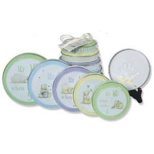 Tower of Time Stacking Plaster Child Handprint Tins: Baby