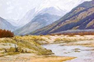 , Fall River, Original oil Painting Western mountain Art Artwork OBO