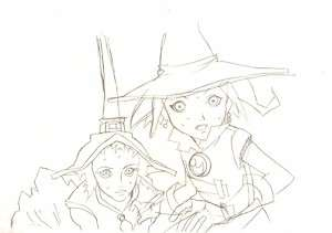 Anime Genga not Cel Tweeny Witches 2 pages #1