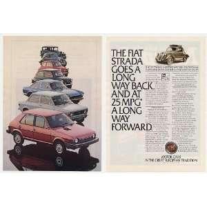 1980 Fiat Strada 36 Topolino Old Models 2 Page Print Ad