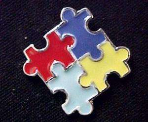Autism Asperger Color Puzzle Piece Awareness Pin Tac L