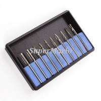 10x 1/8 Tungsten Carbide cutter Rotary Burr Set CNC Engraving Bit w