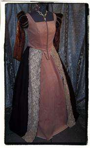 Truffles Elizabethan Tudor Blue Dress Renaissance costume Gown B 42