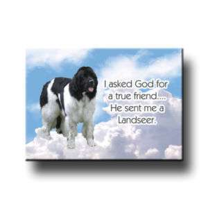 LANDSEER True Friend From God FRIDGE MAGNET New DOG