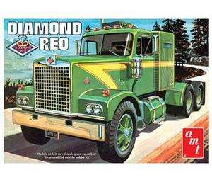 FOUR AMT 719 DIAMOND REO TRUCK MODEL KIT 1/25 Scale Big Rig IN