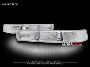 98 04 CHEVY S10 PICKUP/BLAZER CLEAR FRONT BUMPER LIGHTS