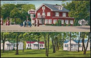 DUNCANNON PA Island Park Restaurant & Motel Atlantic Gas Station Vtg