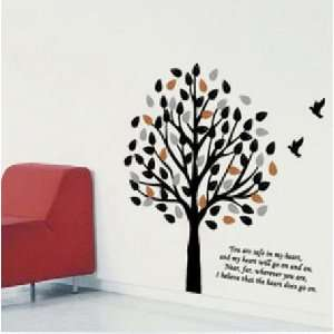 Made in US   Free Custom Color   Free Squeegee  Wall decal    Three