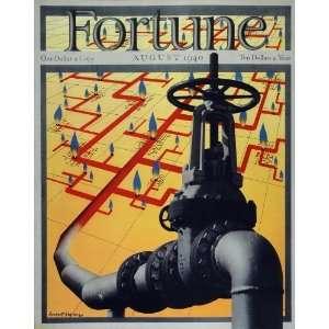 1940 Fortune Cover Oil Gas Pipeline Valve Herbert Bayer